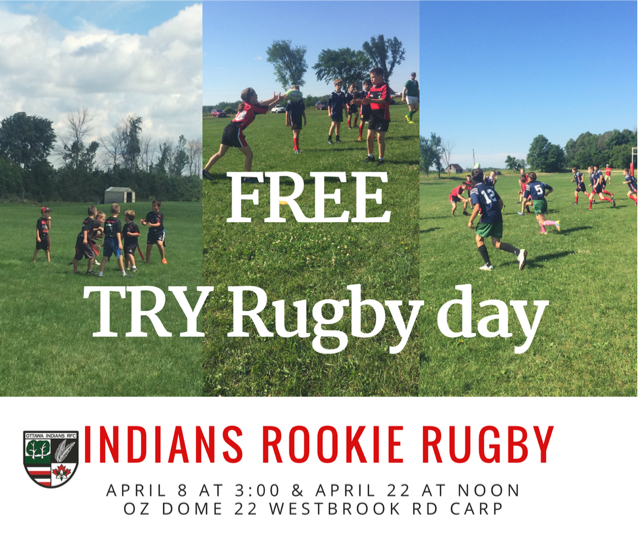 Try Rugby Free Day! April 8 and April 22