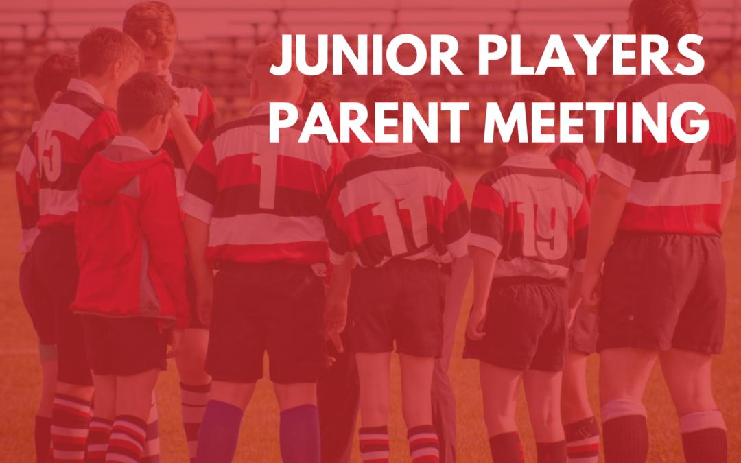 Junior Players Parent Meeting